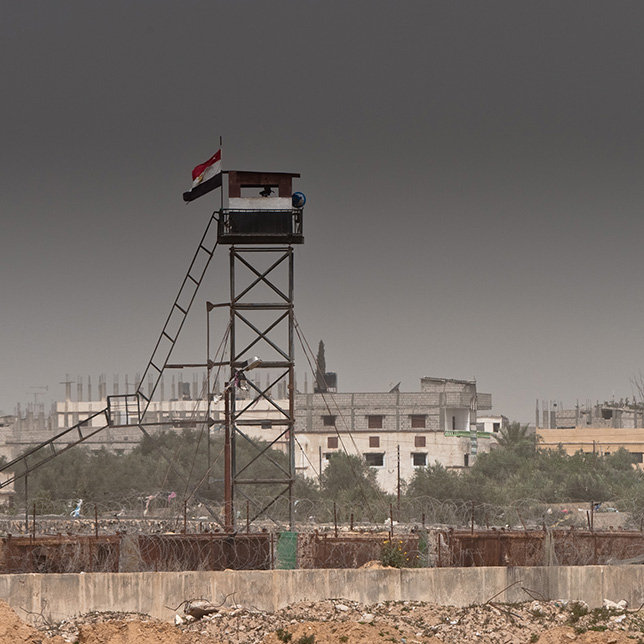 Watchtower on the border between Rafah and Egypt