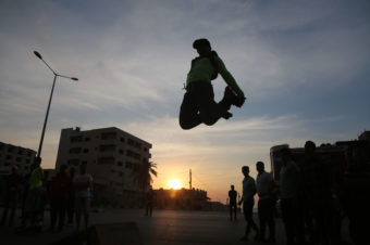 Skating in the Street - Mohammed Zaanoun