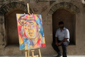 Rana Batrway's Artwork in Gaza - Mohammed Zaanoun