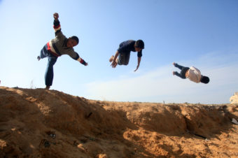 Parkour on the Sands of Gaza - Mohammed Zaanoun
